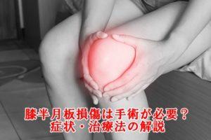 膝の半月板損傷(内側・外側)の症状・原因・治療法の解説